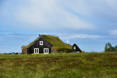 Grass roofed church Royalty Free Stock Images