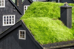 Grass-roofed house, Faroe Islands Stock Image