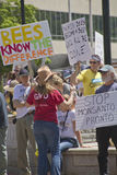 Grass Roots GMO and Monsanto Protest Rally Royalty Free Stock Photos