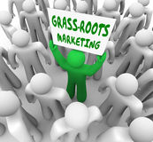 Grass- Roots Marketing Campaign Local Advertising Word of Mouth Royalty Free Stock Photo