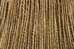 Grass rope vertical lines background w. ndop Royalty Free Stock Images
