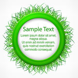 Grass round label Royalty Free Stock Images