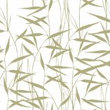 Grass. Seamless pattern with green grass on a white background for design Stock Images