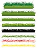 Grass set. Illustration on white Royalty Free Stock Photo