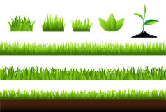 Grass Set stock illustration