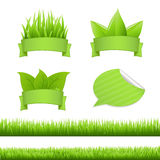 Grass Set. Isolated On White Background, Vector Illustration Royalty Free Stock Image