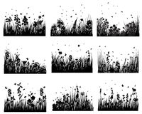 Grass set Stock Images