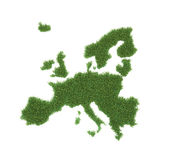 Grass shaped European map Stock Photos