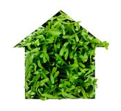 Grass shaped house Stock Photo