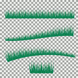 Grass, shrubs. A set of various types of grass. Set of grass on a transparent background. Stock Photography
