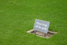 Grass sign Royalty Free Stock Photo