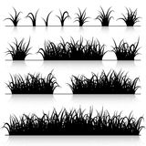 Grass silhouette set Royalty Free Stock Images