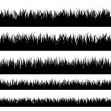 Turf coating banners for edging and overlays. Grass silhouette. Turf coating banners for edging and overlays stock illustration