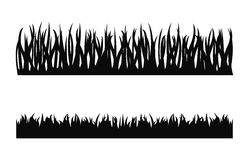 Grass silhouette vector. Isolated set stock illustration