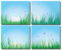 Grass silhouettes set Stock Images