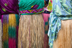 Grass Skirt. At a dancing ceremony, Vanuatu Royalty Free Stock Image