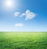 Grass and sky Stock Images