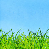 Grass and sky on hand made paper Royalty Free Stock Photos