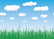 Grass and sky. Horizontal seamless texture grass and sky royalty free illustration