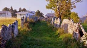 Grass, Sky, Rural Area, Ruins