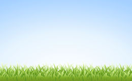Grass and Sky (Seamless) Stock Photo