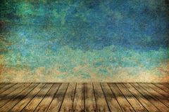 Grass and sky watercolor abstract background on old paper Royalty Free Stock Photos
