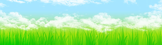 Grass and sky web header Royalty Free Stock Photography
