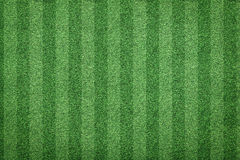 Grass of soccer field background. Top view of stripe grass soccer field background Stock Photography