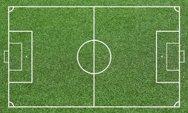 Grass of a soccer field. Football field or soccer field background. Green court for create game Stock Image