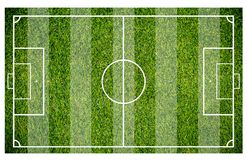 Grass of a soccer field. Football field or soccer field background. Green court for create game Stock Photography