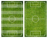 Grass of a soccer field. Football field or soccer field background. Green court for create game Royalty Free Stock Photos