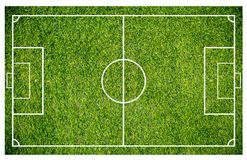 Grass of a soccer field. Football field or soccer field background. Green court for create game Royalty Free Stock Photography