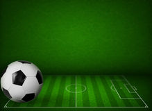 Grass soccer or football field background stock illustration