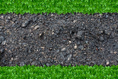 Grass and soil background Royalty Free Stock Photography