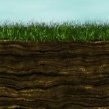 Grass with soil generated texture Royalty Free Stock Photography