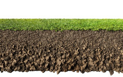 Grass and soil Stock Images