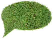 Grass Speech Balloon Cutout Stock Photo