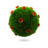 Grass sphere. stock illustration
