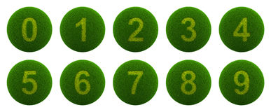 Grass Sphere Number Series Icon Royalty Free Stock Photos