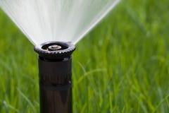 Grass Sprinkler Stock Photo