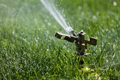 Grass sprinkler Royalty Free Stock Photos