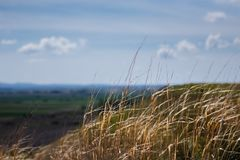 View from the hill with blurred background royalty free stock images