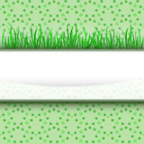 Grass stripe with green blossom pattern  Stock Image