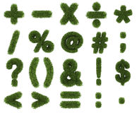 Grass symbols mathematics Royalty Free Stock Images