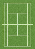 Grass tennis court Stock Photography