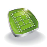 Grass tennis court Royalty Free Stock Images