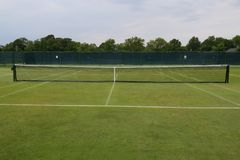 The grass tennis court. In country club royalty free stock images