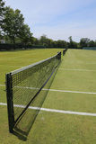 Grass tennis courts. In country club royalty free stock photo
