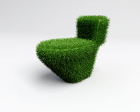 Grass toilet idea. A concept of ecologic grass toilet in three d royalty free illustration