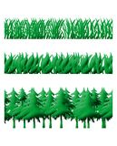 Grass and trees background Royalty Free Stock Photography